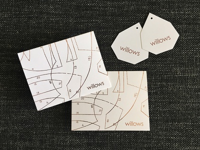 thank you card + hang tags women feminine rose gold foil letterpress retail boutique shop thank you card hang tag custom
