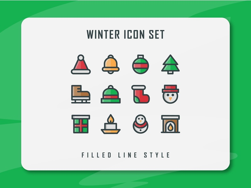Winter Icon Set winter is coming winter icon set vector minimal filled line filled outline illustration design logo ux ui web icon