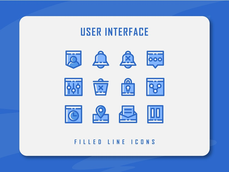 User Interface Icon Set ui icon user experience user inteface app website icon a day icon artwork minimal flat web vector ux ui logo illustration icon set icon filled outline filled line design