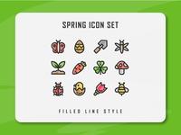 Spring Season Icon Set