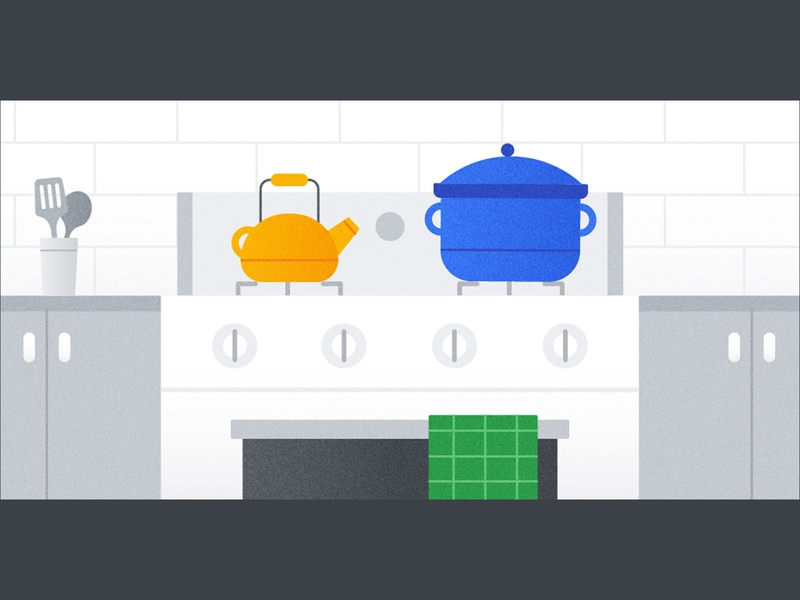 〳 •́ ﹏ •̀ 〵 pot google dutch oven kettle teapot stove oven kitchen vector illustrator illustration