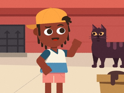 (^ ◕ᴥ◕ ^) cat boy character design vector character illustrator illustration
