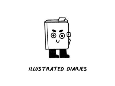 Illustrated Diaries diary journal book character design character texture illustrator illustration