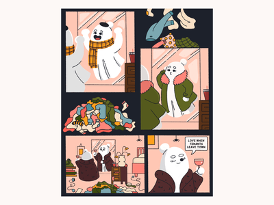Brittany the Ghost storyboard storytelling story art cartoon graphic novel character comic strip comic art illustration ghost comic