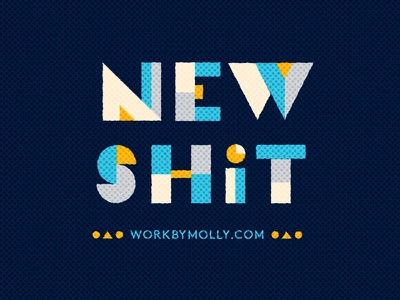 New Site photoshop texture. illustrator vector block letters lettering geometric letters new shit