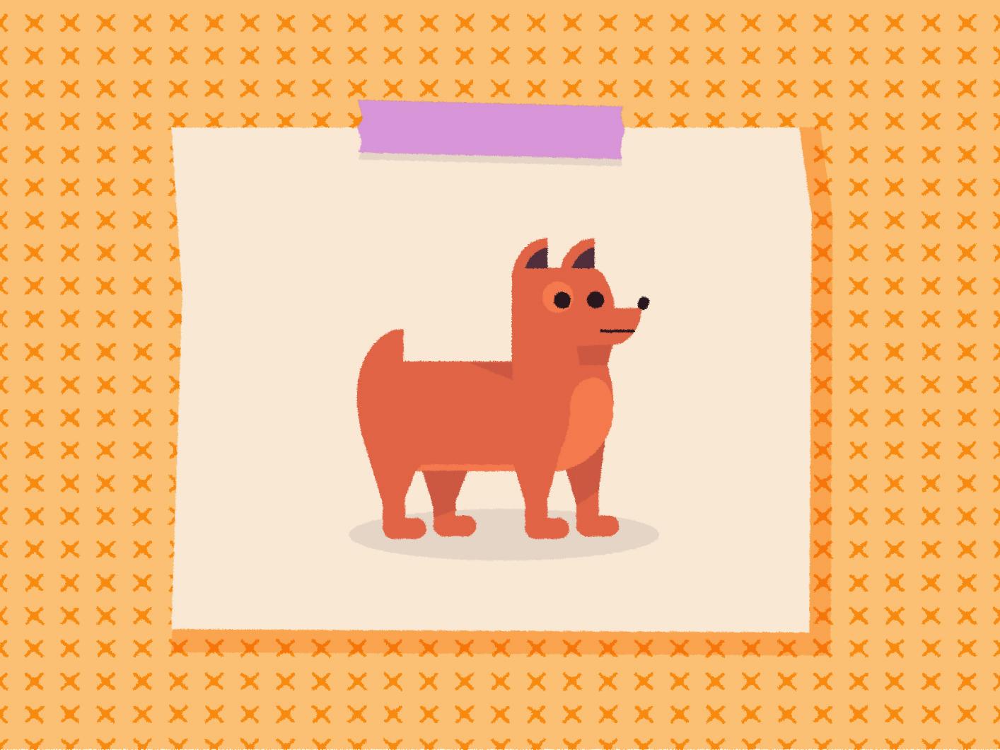 ( ͡°ᴥ ͡° ʋ) bark woof pet animal art character designs pattern vector dog art pup puppy dog character texture illustrator illustration