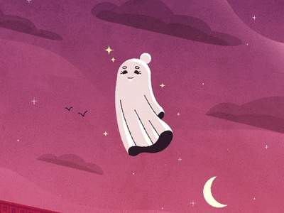 Brittany the Ghost illustrator illustration character character design ghost