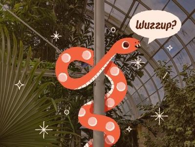 ୧| ⁰ ᴥ ⁰ |୨ garden photoshop texture character character design illustrator hello sparkle snake vector illustration