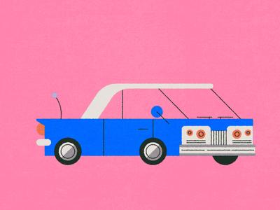 (V●ᴥ●V) vintage retro oldsmobile traffic driving vector texture illustrator illustration car