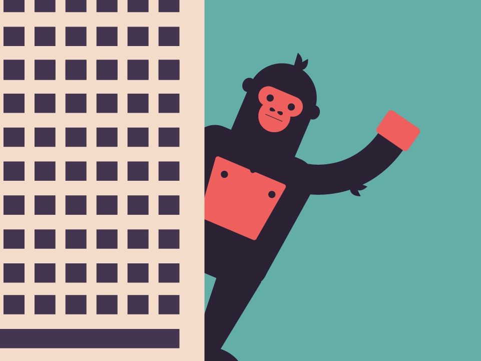 King Kong city illustration character vector skyscraper king kong gorilla