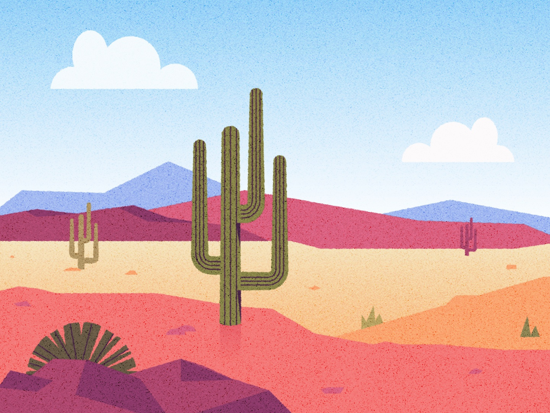 ԅ╏ ˵ ⊚ ◡ ⊚ ˵ ╏┐ background landscape vector illustrator texture illustration scenery sand rocks clouds southwestern southwest cactus cacti desert