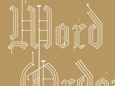Blackletters blackletter circuit board paint splatter type circuit board type technology old world