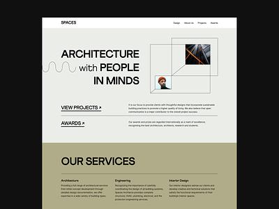 SPACES - Website figma webdesign minimal architecture ui uiux user experience layout