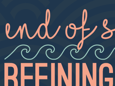 end of summer refining special line postcard design marketing beach colorful waves illustration typography graphic design design summer