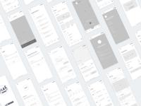 Lasignore App - Wireframes