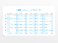 2014 Business Card Calendar