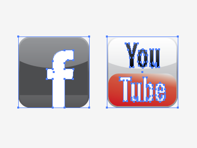 Working Icons (attributes only) icons facebook youtube social media adobe illustrator attributes palette
