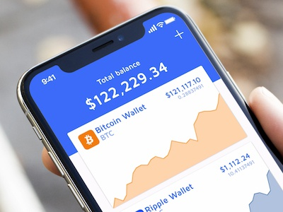 Crypto Accounts Page bitcoin mobile flat clean