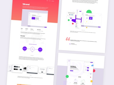 1Brand web app, branding and strategy logo web website minimal illustration flat vector icon branding typography design ui ux app