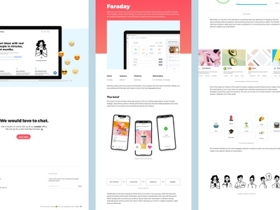 Faraday Web App and Interactions 🤖 blog case study flat minimal branding vector app mobile typography web website design ui ux