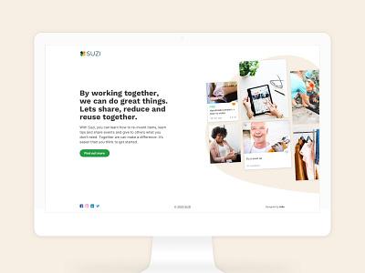 Suzi – Tech for good platform flat app branding minimal vector icon web user experience website design ui ux