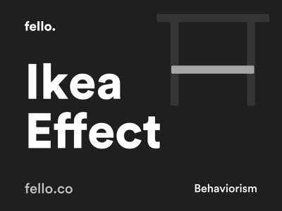 The Ikea Effect - Behaviorism 🧠 flat minimal app icon vector logo web user experience branding behavior science psychology quote behaviour