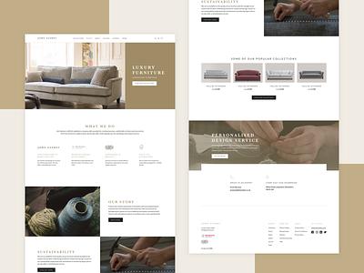 John Sankey e-commerce site design 🛋️ 3d animation 3d minimal flat vector site branding app mobile landing page typography web user experience website