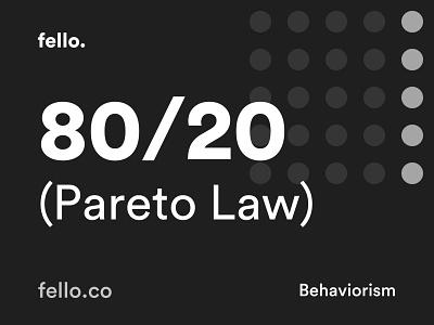 The 80/20 principle (Pareto Law)  🧠 uxui ux website flat minimal app icon vector behaviour behavior quote logo branding illustration