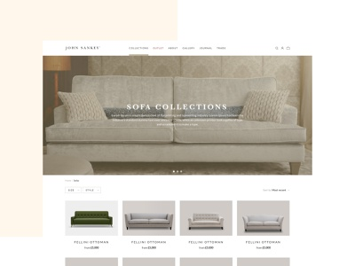 John Sankey e-commerce website UX and UI design 🛋️ e-commerce commerce furniture landing page typography user experience website minimal app icon vector branding illustration