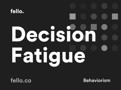 Decision Fatigue 🧠 uxui ux design fatigue behavior behaviour quote flat site minimal vector mobile app branding landing page typography user experience