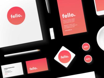 fello. stationary kit print cards stickers pens fello flyers business cards stationary