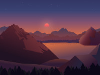 Sunset illustration