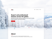 Ski instructor website build and design