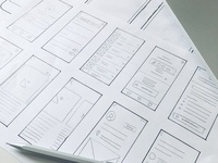 Paper Prototyping UX Wireframe