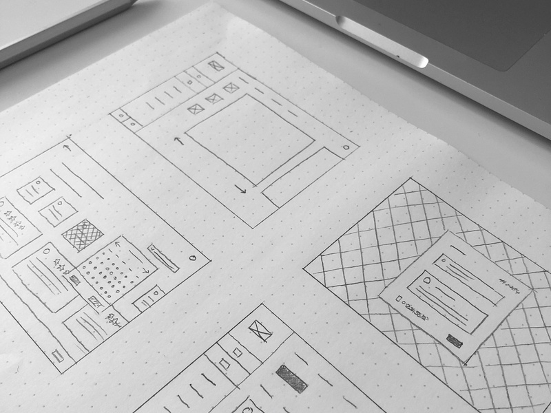 Working through some UX 👷 drawing sketching sketch pencil paper wireframe user experience site website web ui design ux