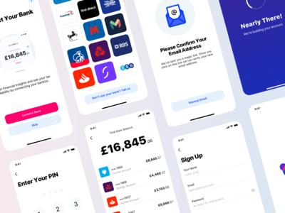 Fintech mobile app monzo bank blue fintech user inteface mobile ui app mobile ux design user experience ui