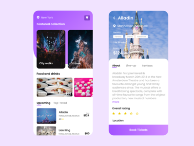 Travel app to discovery attractions & events