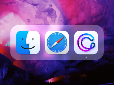 Cobiro Icon - Big Sur design gradient color big sur app branding icon purple blue dock mac logo gradients