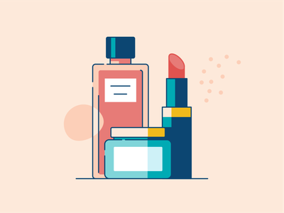 Beauty Product Samples color fragrance package skincare makeup illustration flat samples lipstick fashion bottle perfume cosmetic beauty