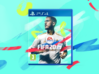 FIFA 20 Cover Concept abstract sport illustration design playstation game ps4 cover concept fifa20 soccer football fifa