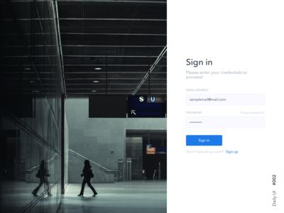 Sign in UI