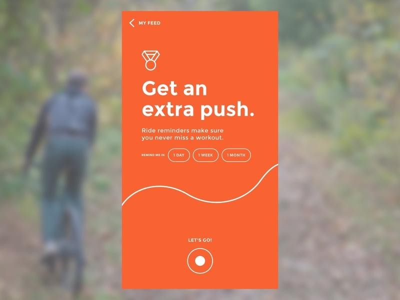 Strava Motivation biking running workout app ux process ux design sketch strava
