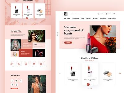 Women Store products women flat clean modern type minimalist web design website web ux ui typography simple photoshop minimal design