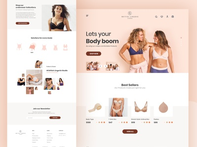 Lingerie Homepage minimalist typography creative clean minimal ux ui webdesign website shopping cart ecommerce online store panties lingerie women inner wear