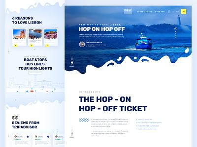 LISBOAT HOMEPAGE website minimal clean illustration minimalist design ui typography lisbon tourist tourism tour boat