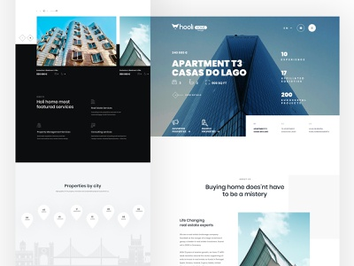 Holihome black  white black photoshop clean design flat ui typography webdesign website landing page homepage property search
