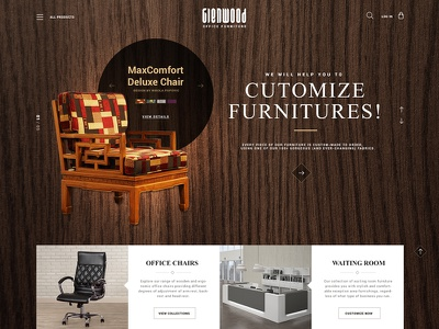 Furniture Website office chair typography font texture pattern modern creative furniture