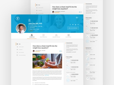 Doctor profile create minimal clean doctor about profile