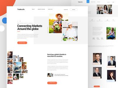 Tradecafe - Homepage simple minimal web ux ui typography flat desktop design creative concept clean