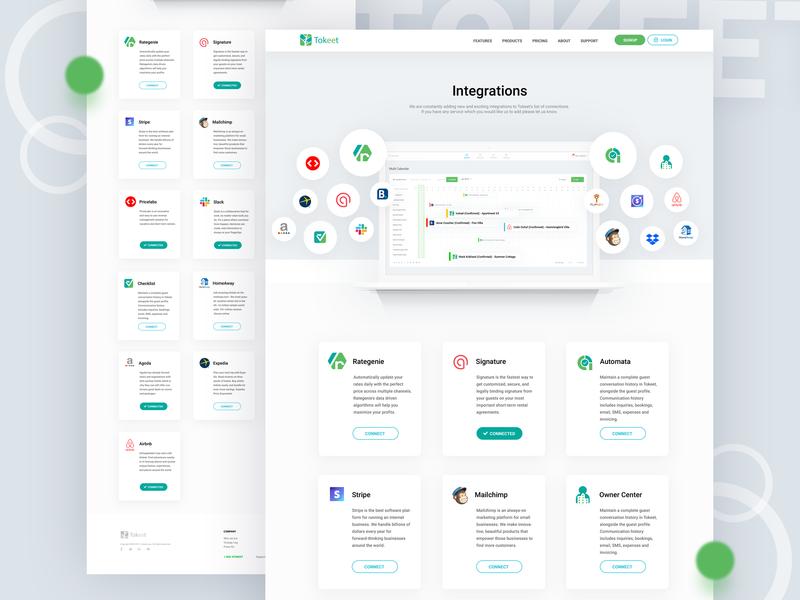 Integrations tokeet rental app rental typography minimalist ux ui white clean flat creative modern minimal